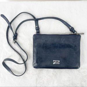 Frye Rubie Double Crossbody Navy Bag